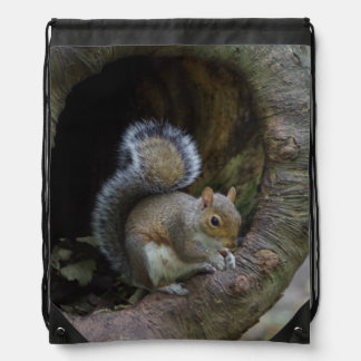 Squirrel Drawstring Backpack