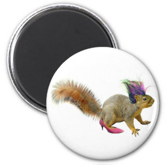 Squirrel Dress Up 6 Cm Round Magnet
