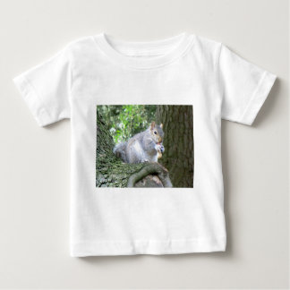 Squirrel eating a monkey nut baby T-Shirt