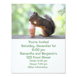 Squirrel Eating an Ice Cream Cone Invitation