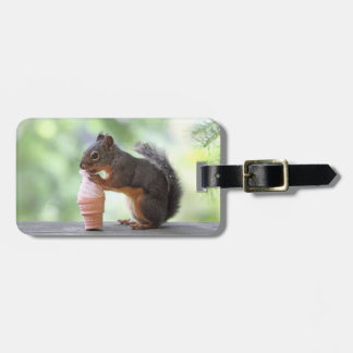 Squirrel Eating an Ice Cream Cone Luggage Tag