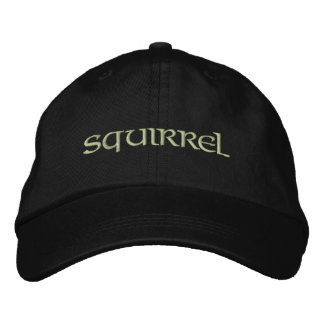 Squirrel Embroidered Hat