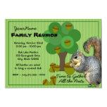Squirrel Family Reunion 13 Cm X 18 Cm Invitation Card