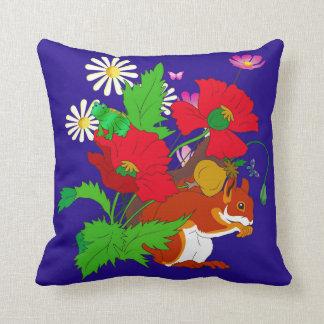 Squirrel,Frog, flower Cushion