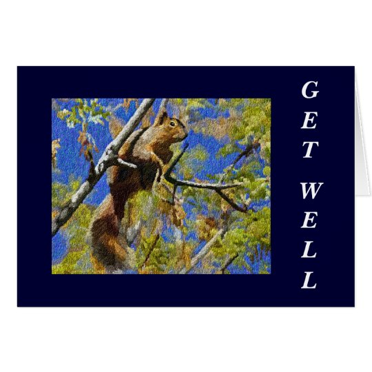 Squirrel Get Well Card