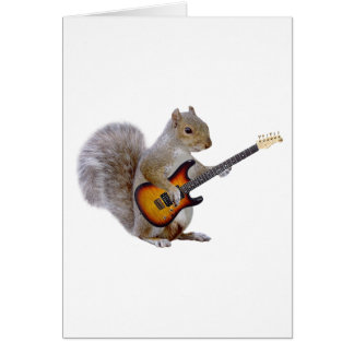 Squirrel Guitar Greeting Card