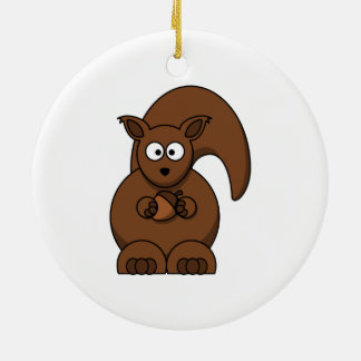Squirrel Holding an Acorn Ornament