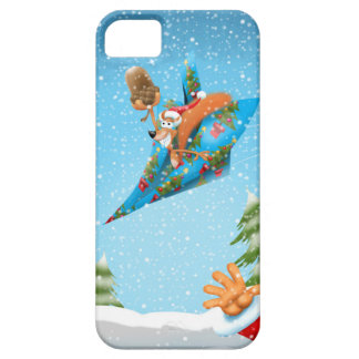 Squirrel in a Christmas paper aeroplane Case For The iPhone 5