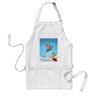 Squirrel in a Christmas paper aeroplane Standard Apron