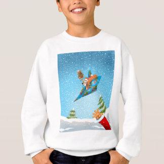 Squirrel in a Christmas paper aeroplane Sweatshirt