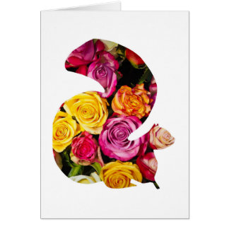 Squirrel in roses card