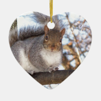 Squirrel in Snow.JPG Christmas Ornament