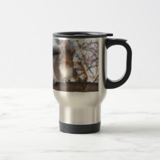 Squirrel in Snow.JPG Travel Mug