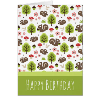 Squirrel in The Oak Forest Pattern Card