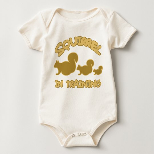 Squirrel in Training Baby Bodysuit