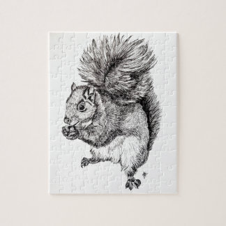 Squirrel Ink Illustration on Jigsaw Puzzle