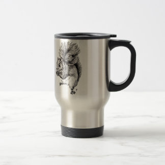 Squirrel Ink Illustration on Travel Mug