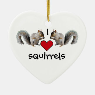 Squirrel Love Christmas Ornament