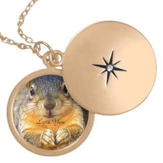Squirrel Love_ Locket Necklace