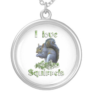 Squirrel Love Silver Plated Necklace