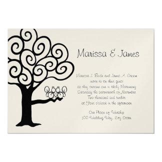 Squirrel Love Wedding 5x7 Paper Invitation Card