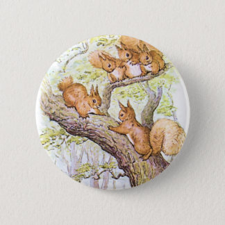 Squirrel Meeting 6 Cm Round Badge