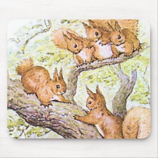 Squirrel Meeting Mousepad