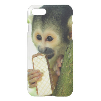 Squirrel Monkey Eating a Wafer Biscuit iPhone 7 Case
