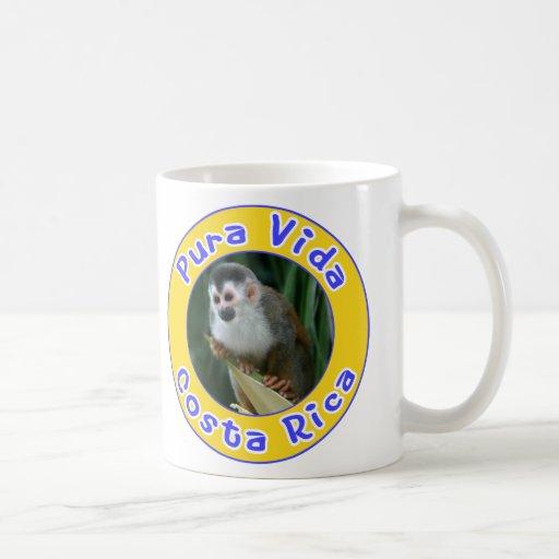 Squirrel Monkey, Pura Vida, Costa Rica Basic White Mug