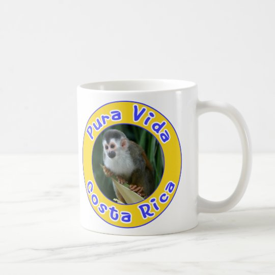 Squirrel Monkey, Pura Vida, Costa Rica Coffee Mug