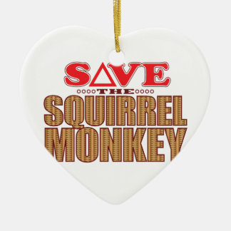 Squirrel Monkey Save Christmas Ornament