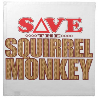 Squirrel Monkey Save Napkin