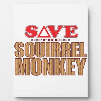Squirrel Monkey Save Plaque