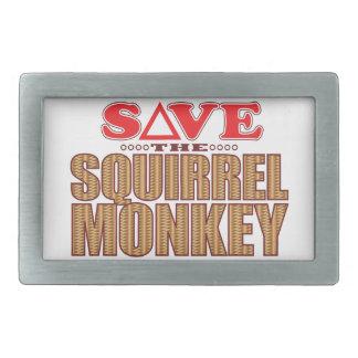 Squirrel Monkey Save Rectangular Belt Buckle