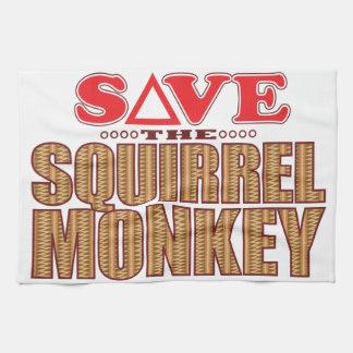Squirrel Monkey Save Tea Towel
