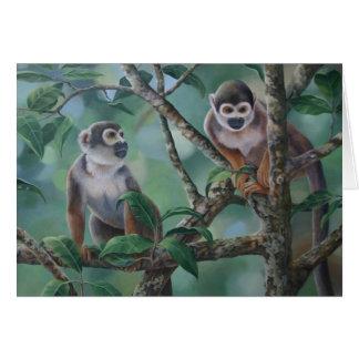 Squirrel Monkeys Greeting Card