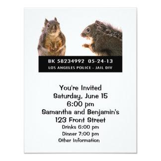 Squirrel Mug Shot 11 Cm X 14 Cm Invitation Card