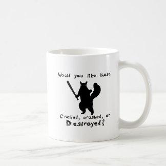 Squirrel nut destroyer coffee mugs