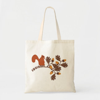 Squirrel on Branch Applique-look Thanksgiving Tote Bag