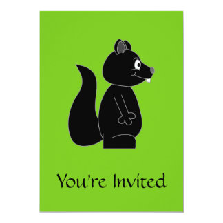 Squirrel on Green Background Card