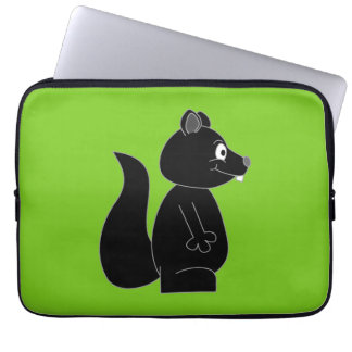 Squirrel on Green Background Laptop Sleeve