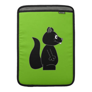 Squirrel on Green Background MacBook Sleeve