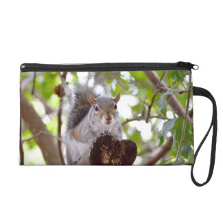squirrel on log cute animal c wristlet purses