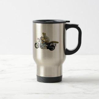 Squirrel on Motorcycle Travel Mug