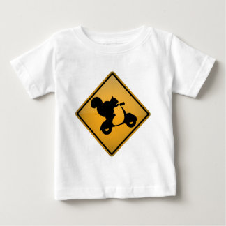 Squirrel on Scooter Baby T-Shirt