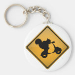 Squirrel on Scooter Key Chain