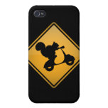 Squirrel on Scooter Warning Sign iPhone 4/4S Case