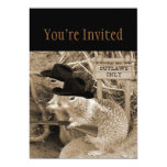 Squirrel Outlaws In The Old West 13 Cm X 18 Cm Invitation Card