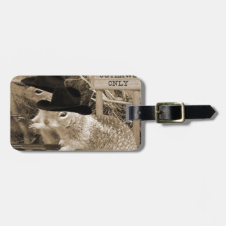Squirrel Outlaws In The Old West Luggage Tag