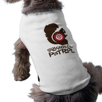 Squirrel Patrol Funny Dog Shirt in Brown